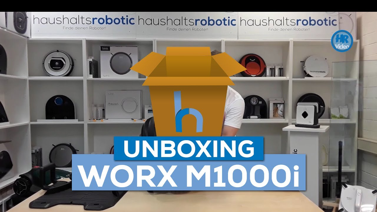 preishammer unboxing worx landroid m1000i bester rasenm her roboter youtube. Black Bedroom Furniture Sets. Home Design Ideas