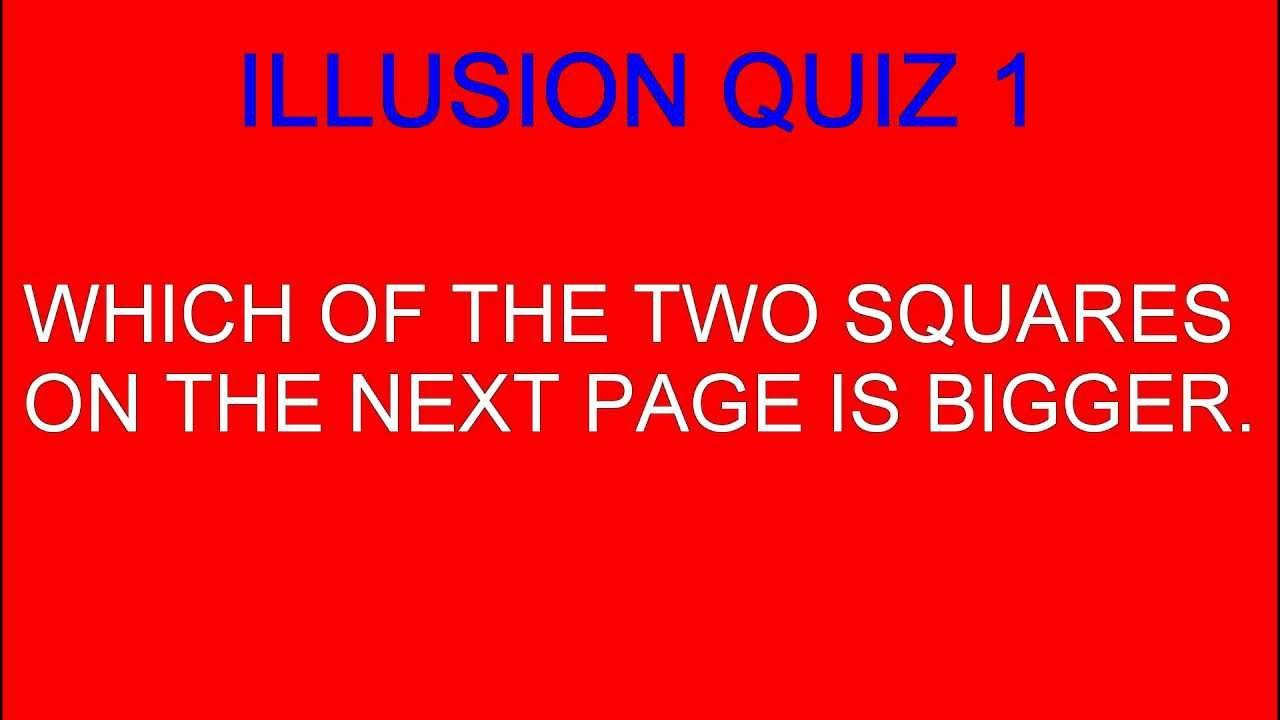 optical quiz illusion
