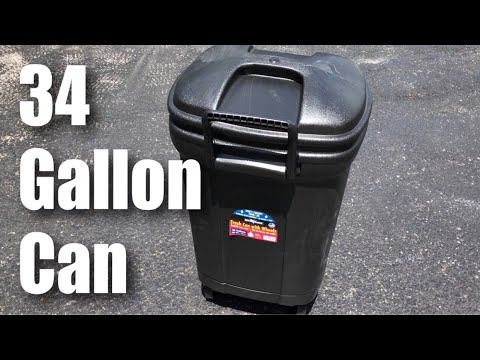 United Solutions TB0010 34 Gallon Wheeled Black Outdoor Garbage Trash Can review