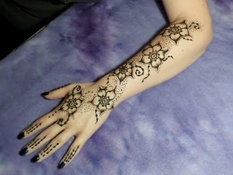 Beginner Floral Henna Sleeve Youtube