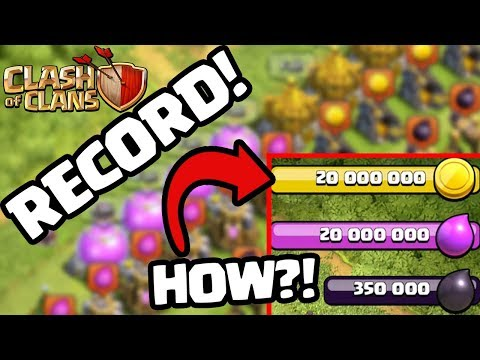 OVER 40 MILLION! MOST LOOT EVER!? Clash of Clans World Record Resources!