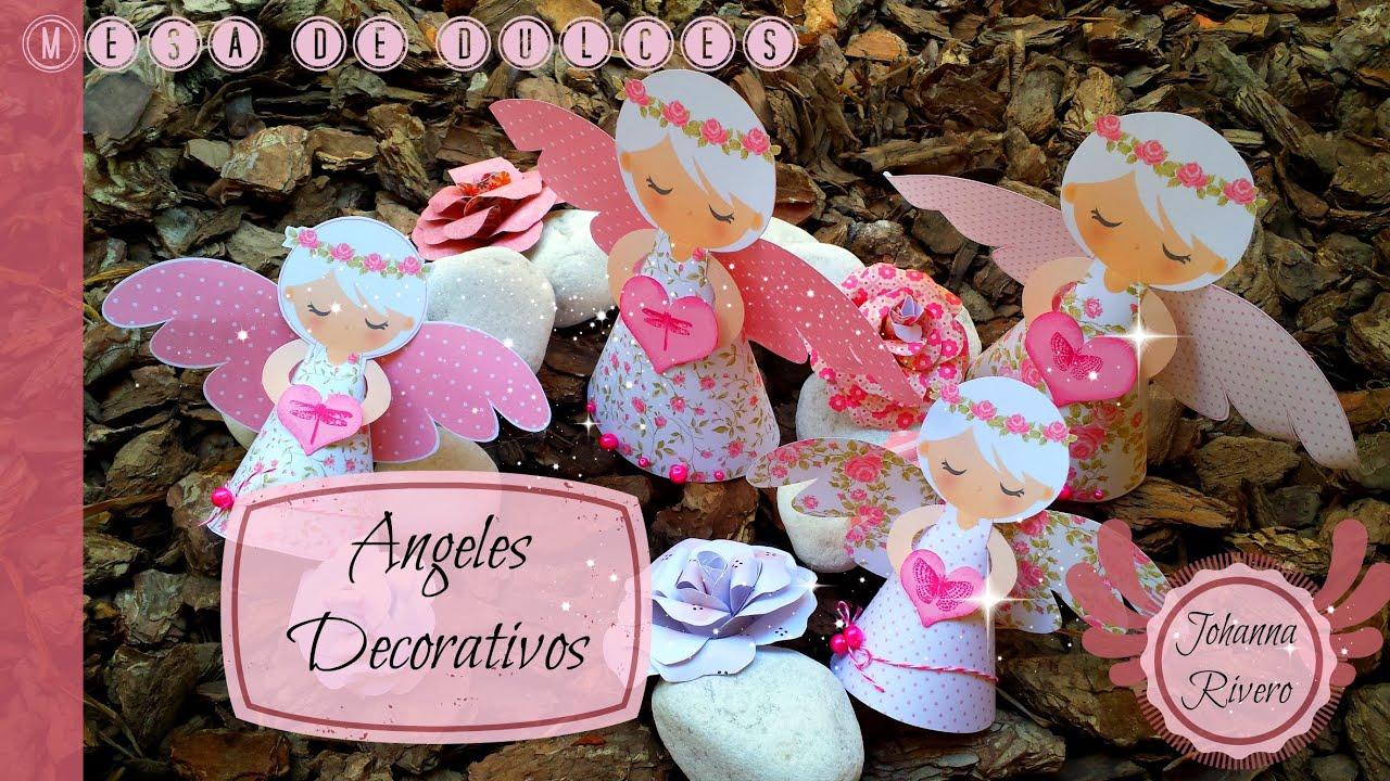 o Decorar Mesa de dulces Scrapbook Angeles decorativos Paso a