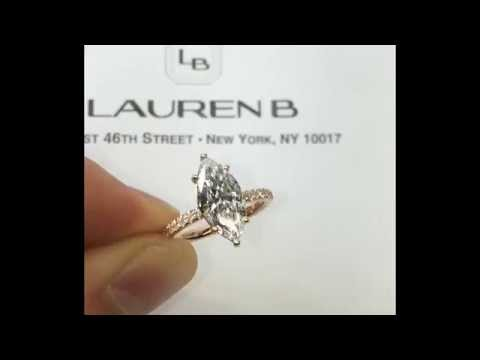 Marquise Diamond Engagement Ring in Rose Gold