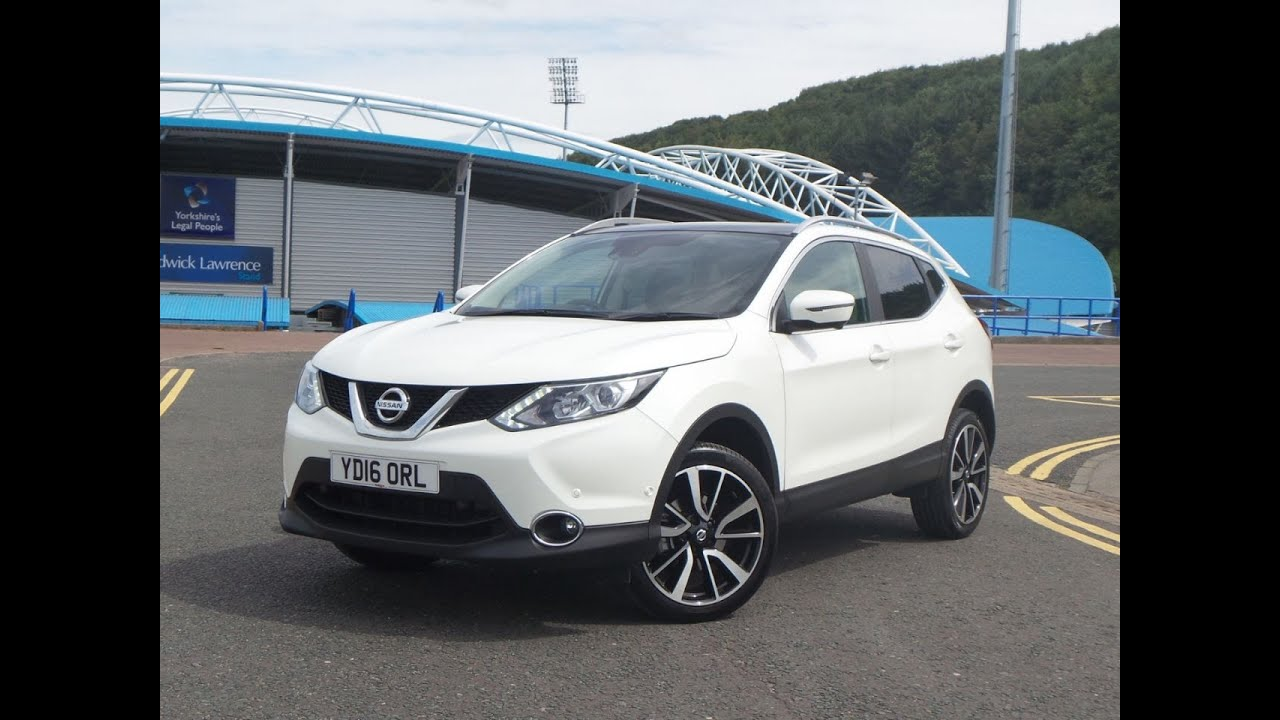 2016 16 nissan qashqai 1 5 dci tekna 5dr in white youtube. Black Bedroom Furniture Sets. Home Design Ideas