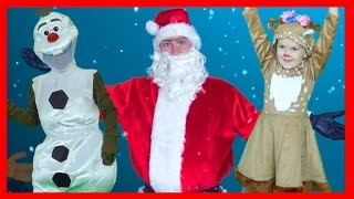🎄 The Christmas Jig Song with Santa Claus 🎅🏽 Superhero Sing Along Kids Christmas Songs ☃