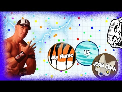 "AGARIO TROLLING | IN TEAMMODE ""My name IS JOHN CENA""  