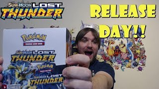Lost Thunder Booster Box Opening! (Release Day Pokemon!)