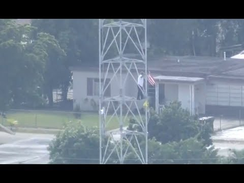 Florida Man Climbing Cell Phone Tower Screaming
