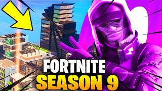 'NEW' FORTNITE SAISON 9 TEASER: L'AVENIR EST INCLINÉ! NOUVEAU BATTLE PASS SKINS - TILTED TOWERS SEASON 9