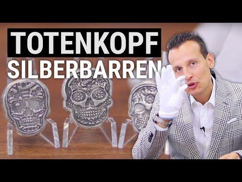 Totenkopf Silberbarren ⚡ Antikes Finish ⚡ Nur 1.000 Stück