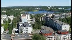 Kesäinen Mikkeli,  Naisvuoren näkötornista nähtynä