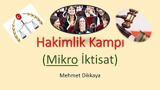 Mİkro İktisat (İdari Hakimlik) Çözümlü 47 Soru YENİ!!!!