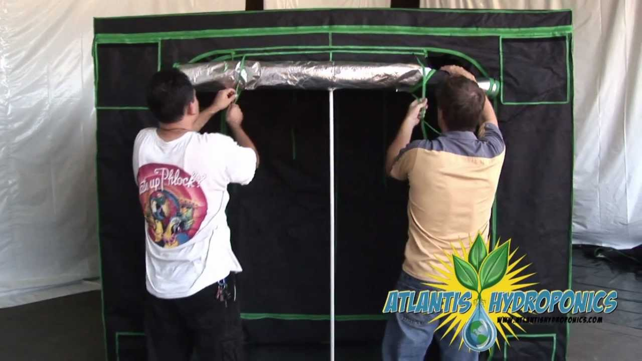 & Large Hydroponic Grow Tent Setup - YouTube