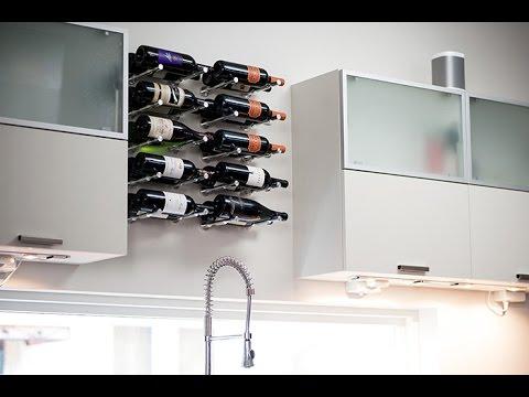 Vino Pins - MODERN **Wall Mounted** Metal Wine Racks