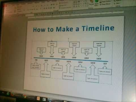 How to Make a Timeline in PowerPoint Part 1 - YouTube