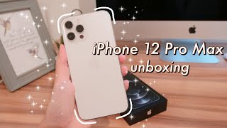 📱✨IPHONE 12 PRO MAX (silver, 256GB) ☁️ // unboxing, setup, accessories