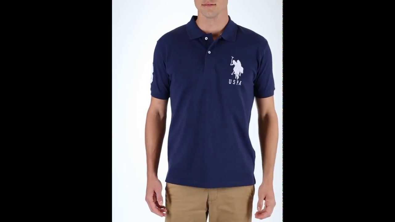 U S Polo Assn Pique Big Logo Polo Shirt Youtube