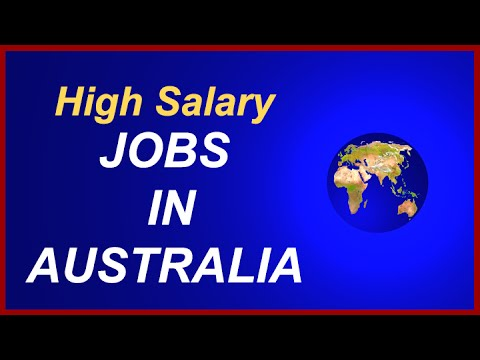 Jobs in Australia------High Salary Jobs