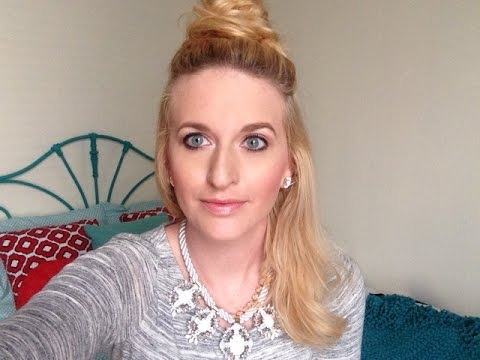 Half-Up Top Knot for Fine Hair - YouTube