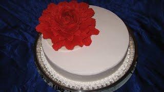 Торт Свадебный с Красным Пионом.