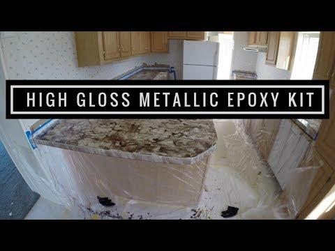 Countertop Resurfacing with Leggari Products Metallic Epoxy Countertop Kit