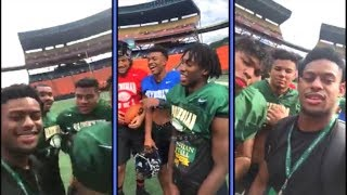 Juju Smith Schuster Goes LIVE At Hawaii With The Youngstas