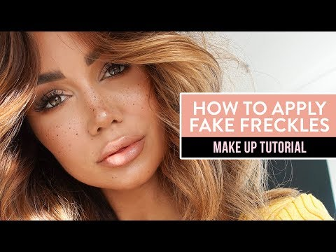 Faux Freckles Makeup tutorial - PIA MUEHLENBECK