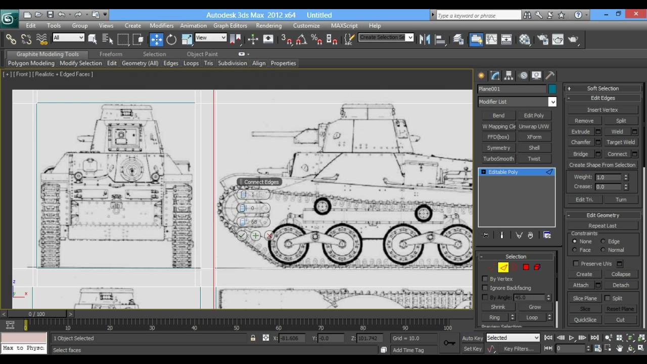 3d max tank Modeling tutorial (Part 1) [Blueprint Set up] - YouTube