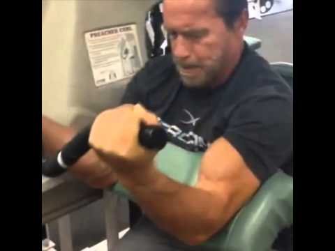 Arnold schwarzenegger 2013 trains biceps at 66 years old youtube arnold schwarzenegger 2013 trains biceps at 66 years old malvernweather Image collections