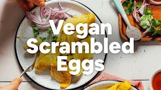 Fluffy Vegan Scrambled Eggs | Minimalist Baker Recipes thumbnail
