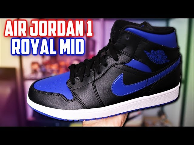 Air Jordan 1 Mid 'Black Hyper Royal'