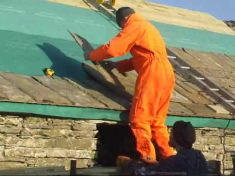 Cladding A Roof With Caithness Slate Youtube
