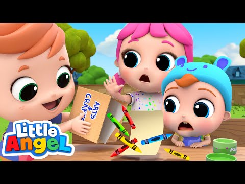 Playing With My Big Brother And Sister | Little Angel Kids Songs & Nursery Rhymes