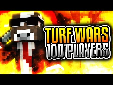 100 PLAYER TURF WARS!! ( Minecraft Server Minigames w/ TheCampingRusher )
