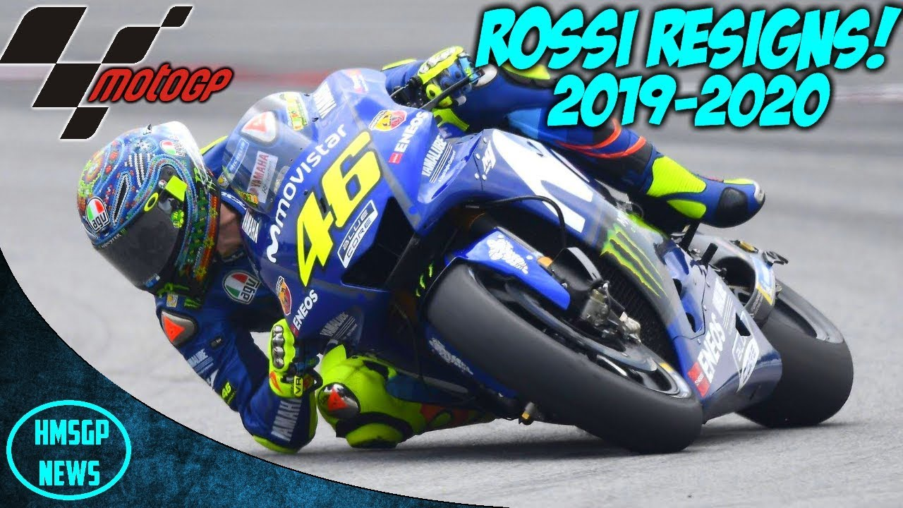 Motogp News Valentino Rossi Re Signs For Yamaha 2019 2020 Youtube