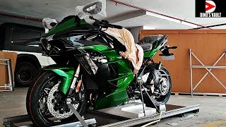 Kawasaki Ninja H2SX SE Unboxing Taking Delivery 1st in India #DinosVlogs