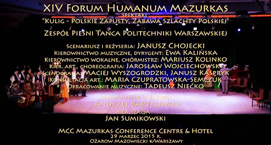 XIV Forum Humanum Mazurkas ZPiT PW -
