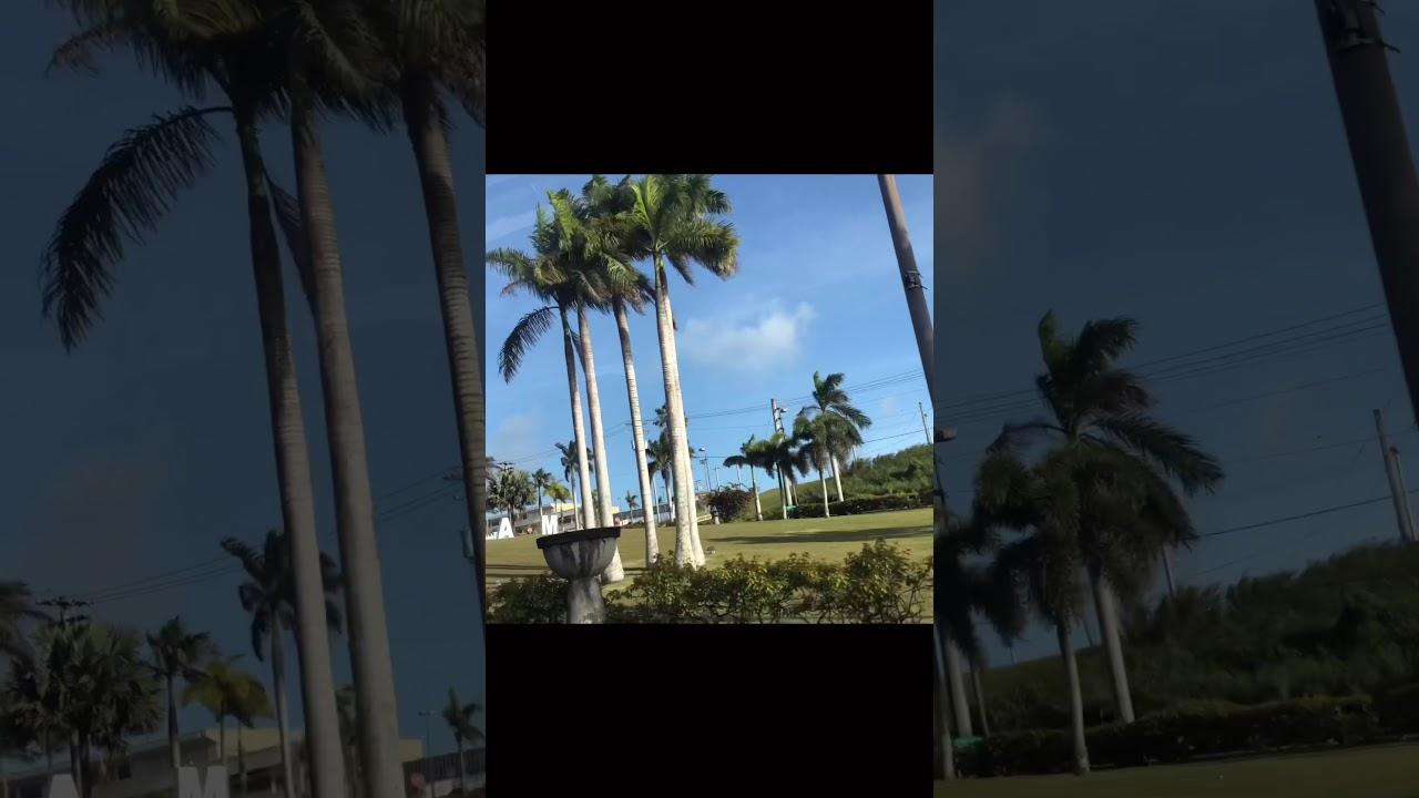괌 공항 앞 GUAM조형물!