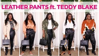 HOW TO STYLE LEATHER PANTS ft. TEDDY BLAKE