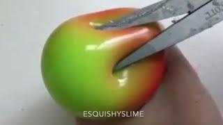 Satisfying Slime Stress Ball Cutting #17
