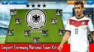 How To Create Germany National Team in Dream League Soccer 2019
