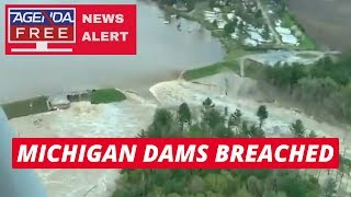 Michigan Dams Breached in Midland County - LIVE NEWS COVERAGE