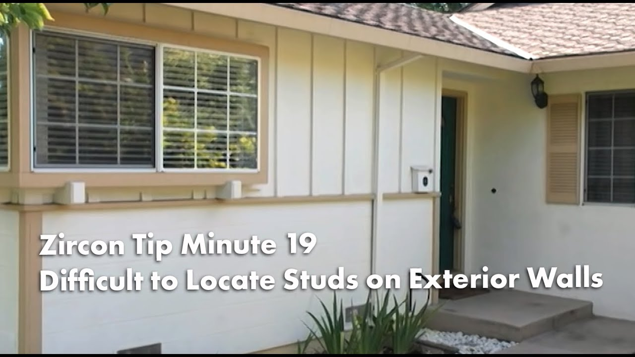 Tip Minute 19: Why Itu0027s Difficult To Locate Walls Studs On Exterior Walls  With Your Stud Finder