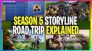 NEUE Staffel 5: ROAD TRIP SKIN STORY LINE *EXPLAINED* (Fortnite Battle Royale Leaks)