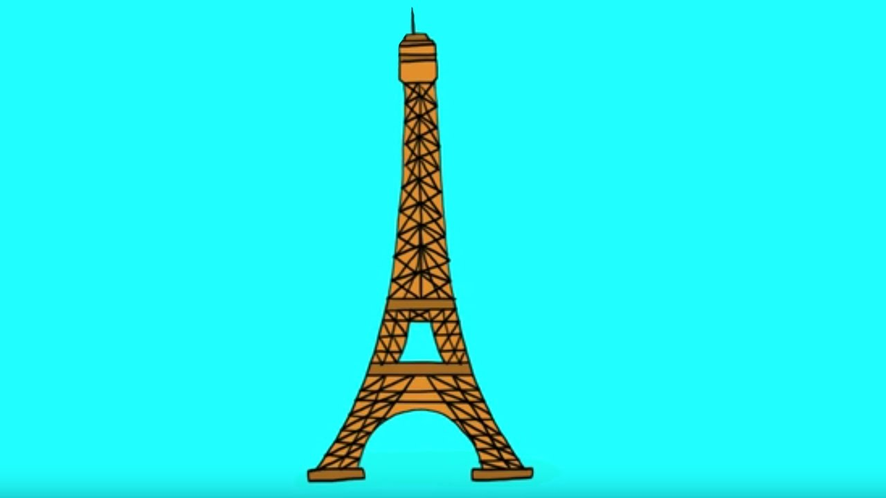 Apprendre A Dessiner La Tour Eiffel How To Draw The Eiffel Tower