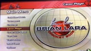 BRIAN LARA CRICKET 2005-EP1-PLAYER CREATION