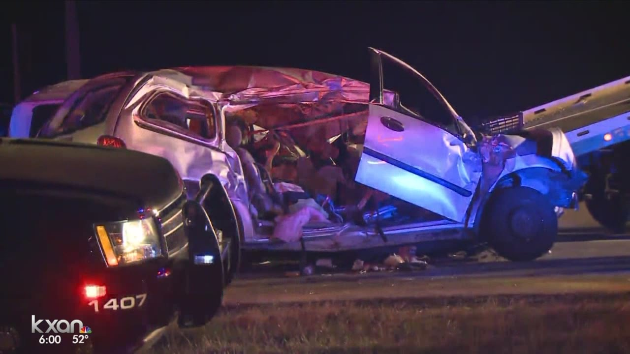 Surveillance footage of I-35 wrong-way crash