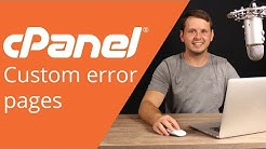 cPanel beginner tutorial 9 - Custom Error Pages
