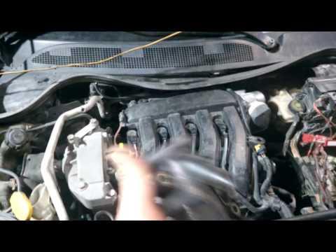 Замена неразборного термостата на Renault Меган 2 1.6