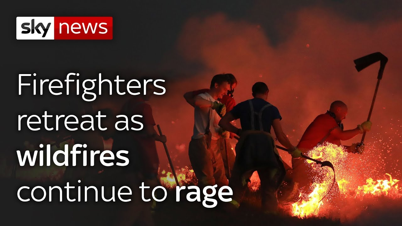 Wildfire continues to rage
